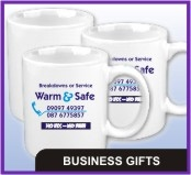 Mugs, Pens, Calendars, Clothing, Key Tags, Magnets, Gifts