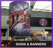 Signs, Banners, Pull-up Banners, Door Slats, Displays, Directories, Shopfront Signs